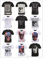 Wholesale Fashion Tshirts - Hot Sell 2018 Summer Men's Round Collar Short Sleeve Sweatshirt T-shirts Cotton Print Skull Tiger T Shirt For Men Fashion Tshirts Brands