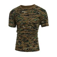 military tactical t shirt toptan satış-Taktik Askeri Kamuflaj T Gömlek Erkekler Nefes Hızlı Kuru Abd Ordusu Savaş T -Shirt Dış Giyim T -Shirt