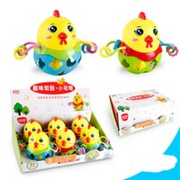 Wholesale cartoon baby chickens - Chicken Shaped Children Rattle High Quality Soft Animal Baby Toys Bodybuilding Toy Annual Gift Of Rooster 5 18bl W
