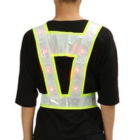 Wholesale light up clothes for sale - Group buy NEW Cycling Running LED Light Up Reflective Stripes Safety Vest High Visibility Workplace Safety Clothing Q0613
