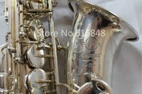 Wholesale saxophone free shipping - SELMER Mark VI Alto Eb Tone Saxophone Brass Silver Plated E Flat Sax With Case Mouthpiece Playing Instruments Free Shipping