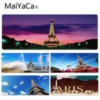 frankreich junge großhandel-MaiYaCa Boy Geschenk Pad Eiffelturm Paris Frankreich Durable Rubber Mouse Mat Pad Größe für 30x60cm 30x70cm 30x80cm 30x90cm 40x90cm