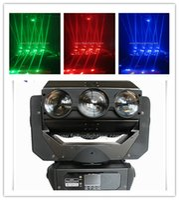 deli ışıklar toptan satış-4 / lot Amerikan DJ CRAZY 9 Hareketli Kafa 9 Işın Işık 9 * 12 Watt rgbw LED