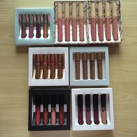 Wholesale koko collection lipstick for sale - Group buy 24set New holiday koko kollection koko in love collection lip kit set The Family Collaboration Gold Metal Matte lipstick KL