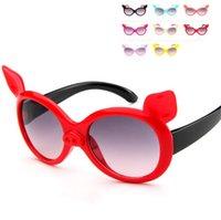 04f33ddb089 Children Cartoon Fashion Little Pig Child Sunglasses Kids Girls Boys Anti  UV Sunglass Summer Beach Glasses New Unique Design