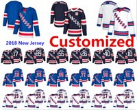 Wholesale Fast Custom - 2018 New York Rangers Customized Jersey Buchnevich Miller Hayes Vesey Fast Holden Desharnais Shattenkirk Accept custom Hockey Jerseys