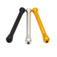 ingrosso tubo metallico bullet-52mm metallo Snuff Straw Sniffer Snorter Tubo nasale 4 colori Snuffer Bullet Smoking Pipe Accessori Utilizzare strumenti