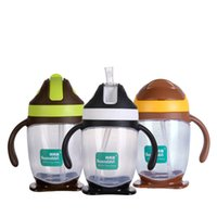 Wholesale Food grade BPA free ml pp cute baby training bottles kids drinking water bottle infant milk cup with handle