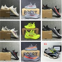 Wholesale Kanye West Kids - 2018 best Baby Kids Run Shoes Kanye West SPLY 350 Running Shoes Boost V2 Children Athletic Shoes Boys Girls Beluga 2.0 Sneakers Black Red