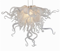 цветы потолочные оптовых-Современная хрустальная люстра в форме цветка Современные подвесные светильники из дутого люстра из муранского стекла