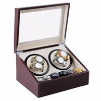 Wholesale Wooden Painting Box - New 4+6 wooden watch winder with high gloss piano paint,automatic watch winder box case storage jewelry box Cases&Displays
