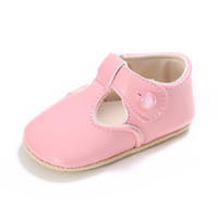 Wholesale baby white mary jane shoes online - PU Leather baby girl soft lovely moccasins shoes mary jane first walker princess shoes fashion crib SHA08