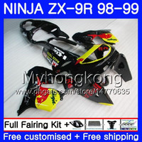 Wholesale 98 zx9r fairing red for sale - Body For KAWASAKI NINJA ZX900 ZX9 R Black yellow red ZX ZX R HM CC ZX R ZX9R ZX R Fairing kit