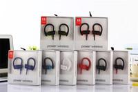 Wholesale cell phone earpiece ear hooks - Universal Bluetooth Earphones Headphones Stereo Bass Headset Sport Earpieces Ear Hook Earbuds G5 brand power 3 Wireless With Mic DHL Free