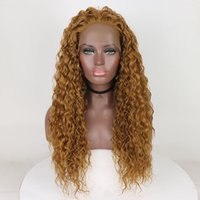Wholesale heat friendly lace front curly for sale - Group buy Everysilky Women s wig Long Curly Wavy Premium Honey Blonde Curly Lace Front Wig Heat Friendly Synthetic Hair Full Wig