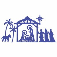 Wholesale diy paper cutting art online - Metal Cutting dies Jesus for Cards Stencil Scrapbooking and Paper Crafts handmade Embossing folder DIY paper craft Machines