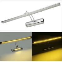 ingrosso interruttore luci da parete per bagno-Luce a specchio a LED in acciaio con interruttore 7W 9W 220V 110V Lampada da parete a parete