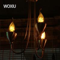 iluminação parafuso velas venda por atacado-WOXIU levou filamento lâmpada e14 pequeno parafuso da lâmpada da vela 3 W bolha candelabro da lâmpada led lâmpada de filamento da cauda fonte de luz