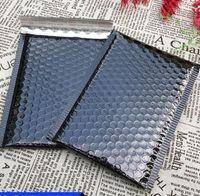 plastikverschiffenauflagen großhandel-15 * 13 cm schwarz kunststoff Blase Umschläge Taschen Versandtaschen Gepolsterte Versand Umschlag Mit Blase Versandtasche Business Supplies