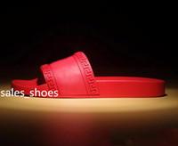 Wholesale Men Beach Slide Sandals Medu Scuffs Slippers Mens Red Beach Fashion slip on designer Men sandals Designer Shoes Size