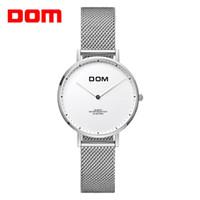 ab0c978db3ed Relojes de marca DOM Luxury reloj de cuarzo de lujo Hardlex correa de malla  de cuero resistente al agua fino reloj reloj nuevo G-36GK