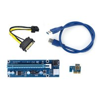 Wholesale New Power Supply cm Molex Pin SATA PIN PCIE PCI E PCI Express x Slot Riser Card x to x USB Cable For Bitcoin BTC Miner Mining