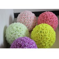 Wholesale Home Party Marketing - 12 Inch 8inch 5 inch Wedding Silk Flower Ball Artificial Rose Ball Flower For Party Home Garden Market Decoration TY7-331