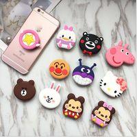 soporte para teléfono móvil de gato al por mayor-2018 nuevo soporte para teléfono móvil lindo hello kitty soporte para teléfono soporte para dedo para iPhone Sakura luna cat phone ring