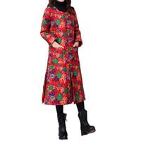 красное мягкое пальто оптовых-2018 Женская мода зима с капюшоном теплое пальто красный хлопок ватник женский длинная куртка женская ватные jaqueta feminina