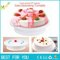 Wholesale cake platform - Cake Making Turntables Anti-skid Plastic Rotating Decorating Platform Stand Display Cake Rotary Tables