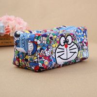 Wholesale anime doraemon - Top New Doraemon Plush Bag Anime Soft Best Gifts Cosmetic Bags Pencil Bags