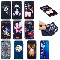 Wholesale butterfly gel case online – custom Relief Embossed Frosted Flower Cute Butterfly Owl Panda For iPhone X S Plus Samsung S9 S8 Plus Phone Case Cover Cute Lovely Gel Rose
