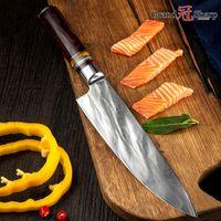 en acier achat en gros de-GRANDSHARP 67 couches couteau de chef damas japonais en acier damas lame VG-10 lame couteau de cuisine damas poignée Pakka poignée couteau PRO Chef