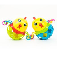 Wholesale baby rattle color resale online - 1pc Rattles Handbell Chicken Musical Instrument Rhythm Shaking Baby Toy Chicken Jingle Bell Kid Educational Musical Random Color