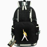 Wholesale nice men canvas backpacks for sale - Group buy Freddie Mercury rucksack Bohemian Rhapsody daypack Cool music schoolbag Nice knapsack Laptop backpack Sport school bag Outdoor day pack