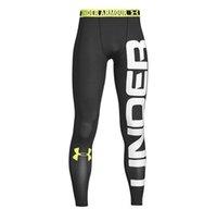 gövde inşaa edilmiş toptan satış-UnderArmour Hızlı kuruyan nefes alabilen spor elastik sıkı vücut geliştirme pantolonu