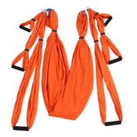 Wholesale yoga inversion swing resale online - High Strength Decompression Hammock Inversion Trapeze Anti Gravity Aerial Traction Yoga Gym Swing Hanging Yoga Swing Set Color