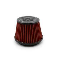 filtro de ar universal 76mm venda por atacado-Universal Car Vehicle Intake Filtro de Ar 75mm Dual Funil Adaptador Air Cleaner Proteja Seu Pistão Com O Logotipo
