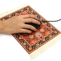 Wholesale Tablet Mat - 280 x 180mm Vintage Carpet Mouse Pad Rubber Tablet Mat Gaming Computer Mouse Mat Gamer Persian Style Mousepad Decor Gift for PC