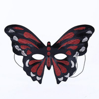 Wholesale girls butterfly mask - Women Girls Colorful Butterfly Mask For Adults Princess Half Face Mask Masquerade Dance Festive Party Supplies