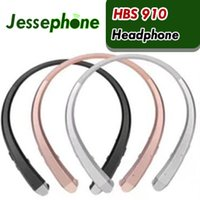 Wholesale best wireless neckband headphones resale online - 50X HBS Headset Earphone Sports Wireless Bluetooth Headphone Best Quality For iphone plus s8 edge hbs910 DHL
