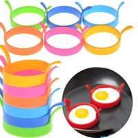 ei runde form kochen großhandel-Kreative Ei Werkzeuge Runde Form Silikon Omelettform für Eier Braten Pfannkuchen Kochen Form Frühstück Wesentlich