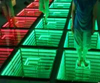 rgb führte tanzböden großhandel-50 * 50 cm spiegel 3d led tanzfläche licht mit sd steuerung led bühneneffekt licht bühnenboden panel lichter disco dj party lichter hochzeitsdekor