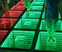 ingrosso rgb ha portato i pavimenti di ballo-50 * 50cm Specchio 3D Led Dance Floor Light con controllo SD Led Stage Effect Light Stage Pannello luci discoteca DJ Party Lights Wedding Decor