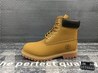 Wholesale Cowboy Boots - Original⠀Timberland mens womens winter boots fashion boots black red brown Grey green Casual Trainers Luxury Brand boots size 5.5-11