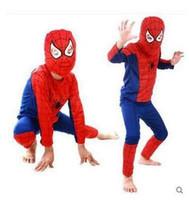 ropa de batman cosplay al por mayor-Moda iMucci Spider Man Ropa para niños Juegos Spiderman Fiesta de Halloween Cosplay Disfraz Niños Manga larga Superhéroe Batman Trajes