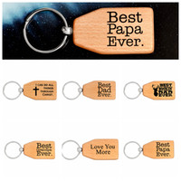 Wholesale pendants collection online - 6styles Wood creative Keychain Best Papa Dad Grandpa wooden Keyring Charm Pendant Keychains collection kids toy gift FFA494