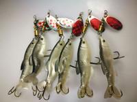 soft fischen locken spinner großhandel-Weicher Fischköder Spinner Köder 8g