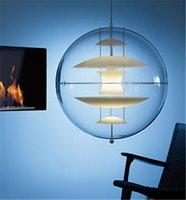 iluminación de araña de globo al por mayor-Blanco moderno Verner Panton VP Globe Colgante Ligero Suspensión Colgante Luz de Techo Araña Comedor Lámpara Accesorio de Iluminación