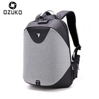 Wholesale anti theft laptop - OZUKO inch Business Laptop Backpacks Men Luxury Coded Lock Anti theft Backpack Multifunction USB Charge Casual Male Backpacks